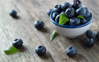 blueberries, berries, plate with blueberries, wild berries