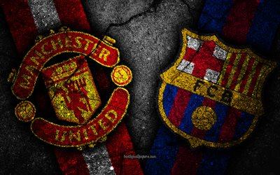 Manchester United vs Barcelona, UEFA Champions League, quarterfinal, creative, Manchester United FC, Barcelona FC, black stone, Juve, Quarter-finals, UEFA