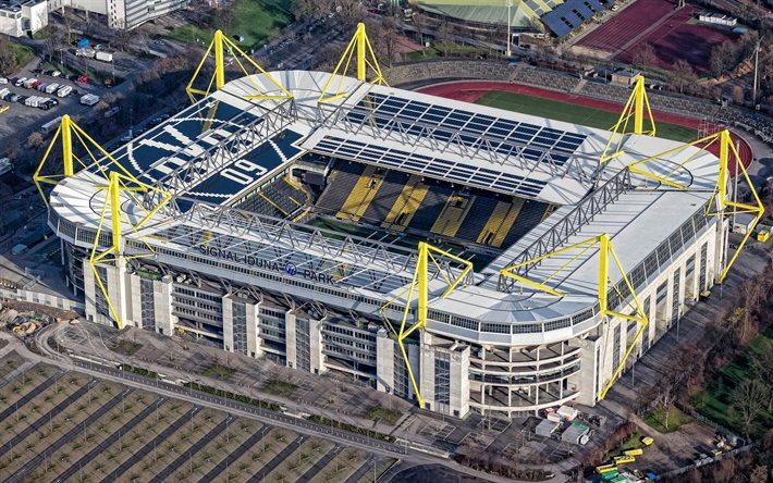 Скачать обои Signal Iduna Park, Dortmund, Germany, largest ...