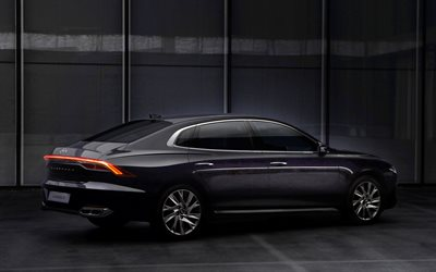 4k, Hyundai Grandeur, back view, 2020 cars, luxury cars, 2020 Hyundai Grandeur, 2020 Hyundai Azera, korean cars, Hyundai