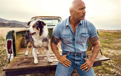 Dwayne Johnson, The Rock, american actor, photoshoot, american wrestler, portrait, american star, popular actors, hollywood star