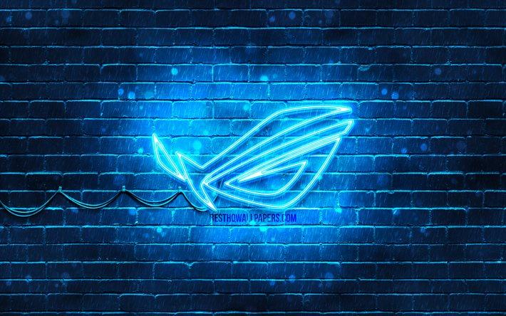 thumb2 rog blue logo 4k blue brickwall republic of gamers rog logo