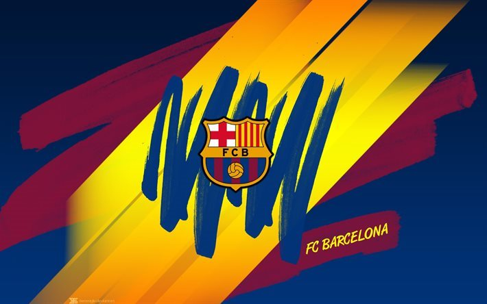 Download wallpapers Barcelona, art, logo, Barca, Catalonia, creative for desktop free. Pictures ...