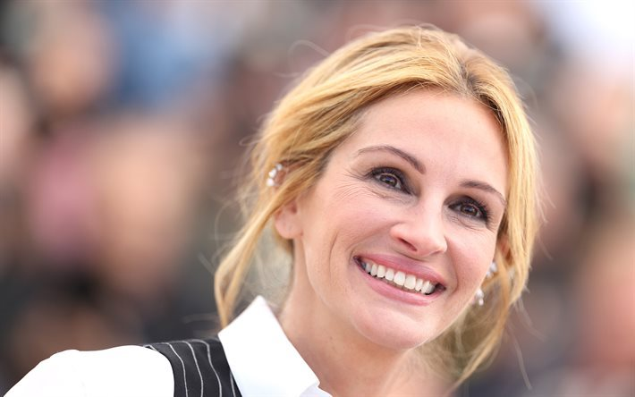 Julia Roberts, American actress, portrait, smile, beautiful woman