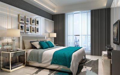 Makuuhuoneen sisustus / nougatin värinen seinä