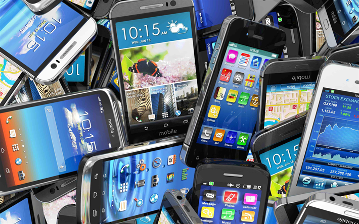smartphones, 4k, mobile phones, modern communication, phones