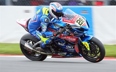 Suzuki GSX-R1000, 4k, racing motorcycles, Bradley Ray, British motorcycle racer, British Superbike Championship