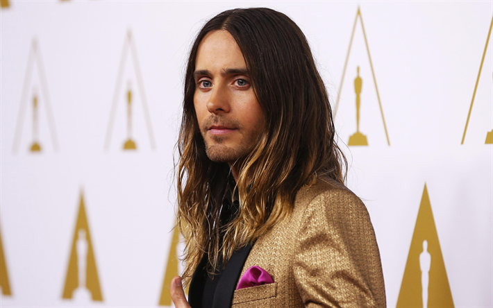 Jared Leto, Amerikkalainen laulaja, rock, muotokuva, 4k, 30 Seconds to Mars, Jared Joseph Leto