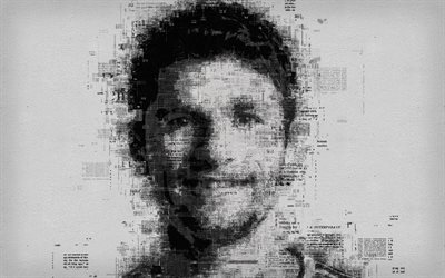 Thomas Muller, 4k, portrait, newspaper art, printing house, poster, German footballer, creative art portrait, face, Bavaria Munich