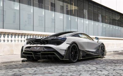 McLaren 720S Mansory First Edition, hypercar, rear view, exterior, tuning 720S, British sports cars, McLaren