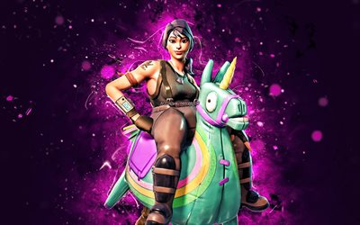 Yee-Haw, 4k, néons violets, Fortnite Battle Royale, Personnages Fortnite, Peau Yee-Haw, Fortnite, Yee-Haw Fortnite