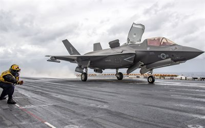 Lockheed Martin F-35 Lightning II, F-35, chasseur-bombardier américain, United States Navy, avion militaire