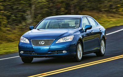 Lexus ES 350, highway, 2009 cars, luxury cars, HDR, 2009 Lexus ES, japanese cars, Lexus