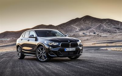 2019, BMW X2, M35i, front view, black crossover, X2 exterior, new black X2, german crossovers, BMW