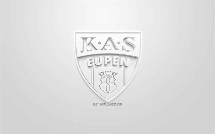 Download Wallpapers Kas Eupen Creative 3d Logo White Background