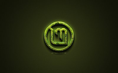 Linux Mint logo, creative nature art, Linux Mint, green carbon fiber texture, Linux Mint emblem, operating system, Linux