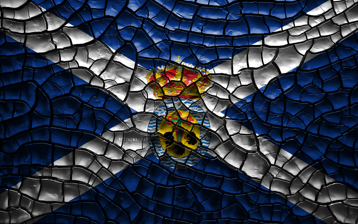 Download Wallpapers Flag Of Santa Cruz De Tenerife 4k