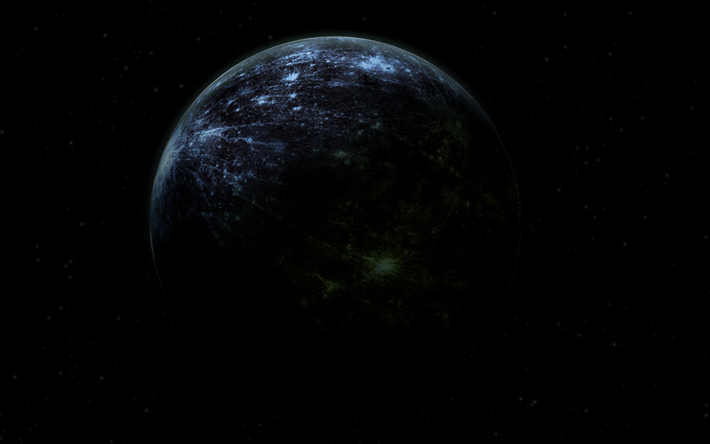 black planet, galaxy, nebula, sci-fi, universe, NASA, planets