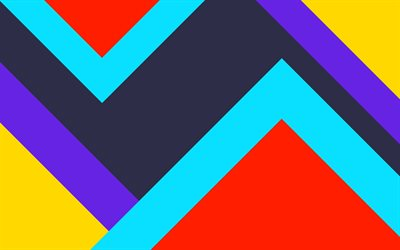 abstract pyramids, material design, geometric shapes, lollipop, lines, geometry, creative, strips, colorful backgrounds, abstract art