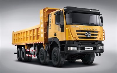 Hongyan Kingkan Powerforce 380, studio, 2020 trucks, LKW, dumpers, 2020 Hongyan Kingkan, chinese trucks, Hongyan