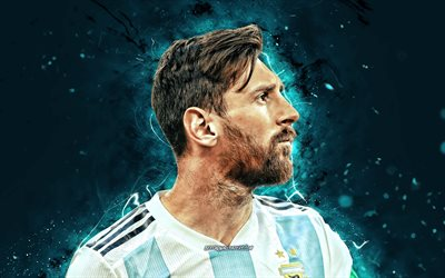Lionel Messi, 4k, Argentina national football team, 2020, football stars, close-up, Leo Messi, soccer, Messi, Argentine National Team, Lionel Messi 4K, footballers