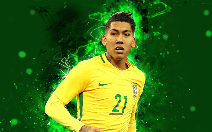 Download Wallpapers 4k, Roberto Firmino, Abstract Art