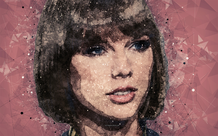 Download Wallpapers Taylor Swift 4k Art Portrait