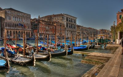 Venice, morning, sunrise, boats, beautiful city, tourism, Italy