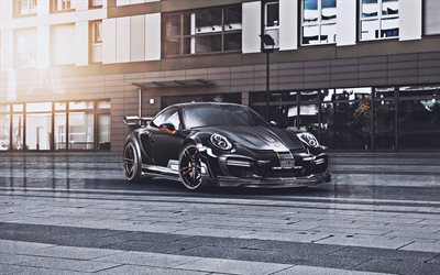 TechArt, tuning, Porsche 911 Turbo S, 2019 cars, supercars, 2019 Porsche 911, german cars, Porsche