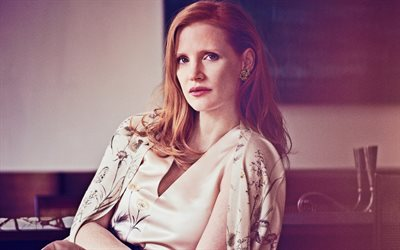 Jessica Chastain, ritratto, attrice statunitense, photoshoot, star di Hollywood, top attrice