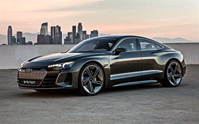 Audi e-tron GT, 2019, electric sports coupe, electric car, new black e-tron GT, electric sports cars, Audi