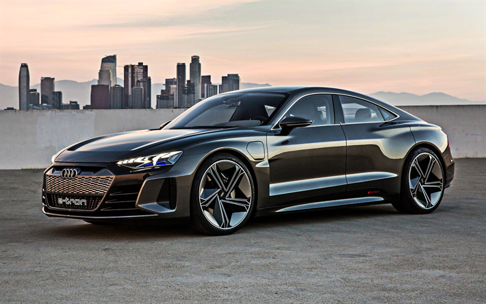 Download wallpapers Audi e-tron GT, 2019, electric sports ...