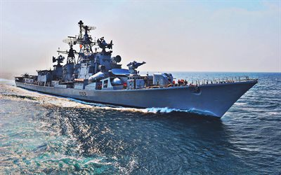 INS Rana, D52, destroyers, warships, Indian Navy, Rajput-class destroyers, Rana