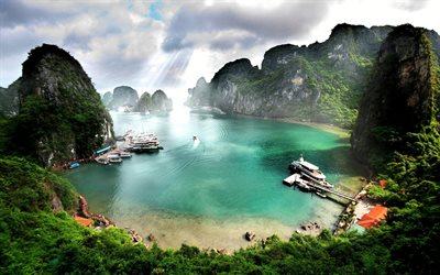 Ha Long Bay, summer travel, beautiful nature, paradise, Vietnam, Asia, Vịnh Hạ Long