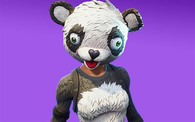 Panda Team Leader, Fortnite Battle Royale, 2019 games, Fortnite, cyber warrior, Fortnite characters, Panda Team Leader Fortnite