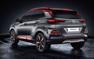 Hyundai Kona, Iron Man Edition, 2019, rear view, exterior, tuning Kona, compact crossovers, Korean cars, Hyundai