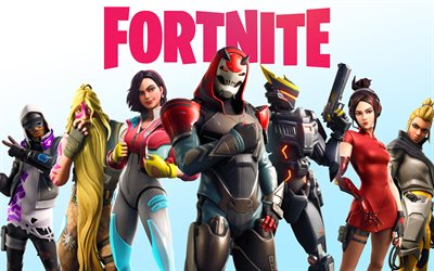 Fortnite Battle Royale, 4k, poster, 2019 games, Fortnite, cyber warriors, Fortnite characters, Fortnite 4K
