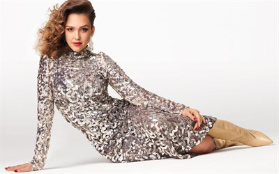Jessica Alba, american actress, beautiful dress, photoshoot, american star, beautiful woman