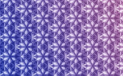 3D ornaments texture, 3d texture with flowers, purple floral background, creative texture