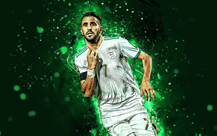 Download Wallpapers Riyad Mahrez, 4k, Goal, Algeria