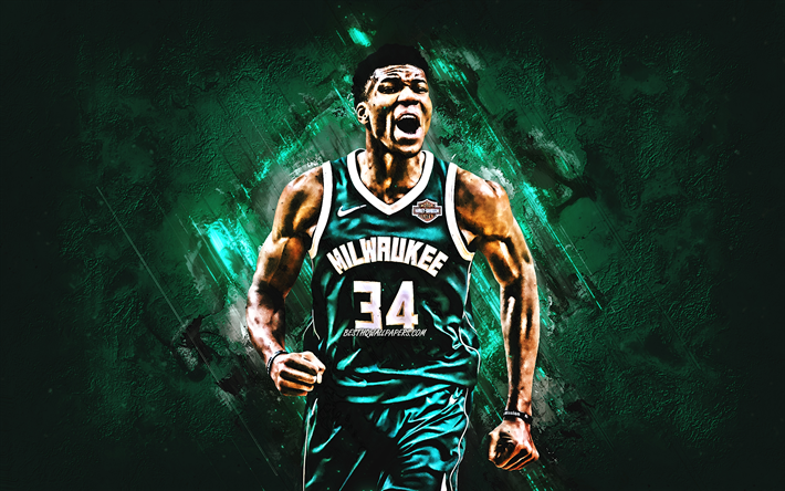 Download Wallpapers Giannis Antetokounmpo Milwaukee Bucks