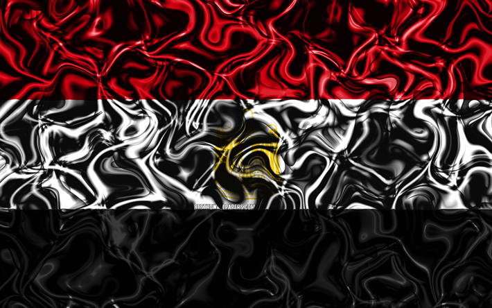 Download Wallpapers 4k Flag Of Egypt Abstract Smoke