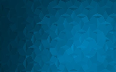 Blue mosaic background, blue abstract background, creative backgrounds, blue abstraction