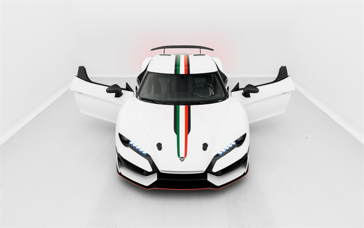 Download Wallpapers 2018 Italdesign Zerouno White Supercar