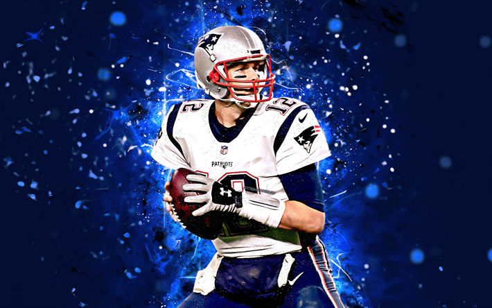 Download Wallpapers Tom Brady, 4k, Abstract Art