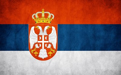 Flag of Serbia, texture, walls, Republic of Serbia, national symbols, Serbian flag