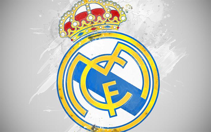 Sport Wallpaper Real Madrid: Download Wallpapers Real Madrid CF, 4k, Paint Art