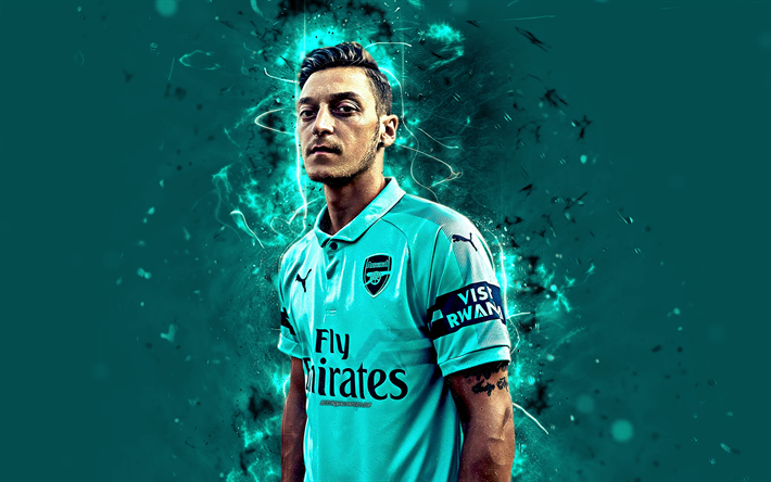 Download Wallpapers Mesut Ozil 4k Arsenal Abstract Art