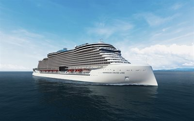 Norwegian Cruise Line, concept of a luxury cruise liner, large white ship, Passenger Ship, NCL, Cruise Line