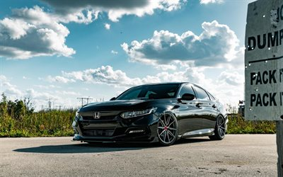 Honda Accord Touring, optimización de 2019 coches, Vossen Wheels, HF-3, coches de lujo, 2019 Honda Accord, los coches japoneses, Honda